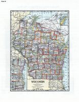 Wisconsin State Map, Sheboygan County 1941